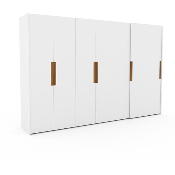 Kleiderschrank Weiß - Individueller Designer-Kleiderschrank - 354 x 233 x 65 cm, Selbst Designen, Kleiderstange/hohe Schublade/Kleiderlift