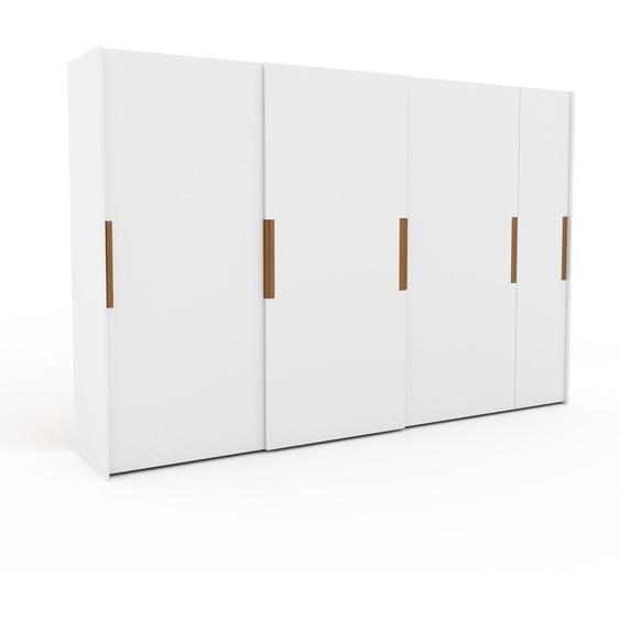 Kleiderschrank Weiß - Individueller Designer-Kleiderschrank - 354 x 233 x 65 cm, Selbst Designen, Kleiderstange/hohe Schublade/Schublade Glasfront/Kleiderlift