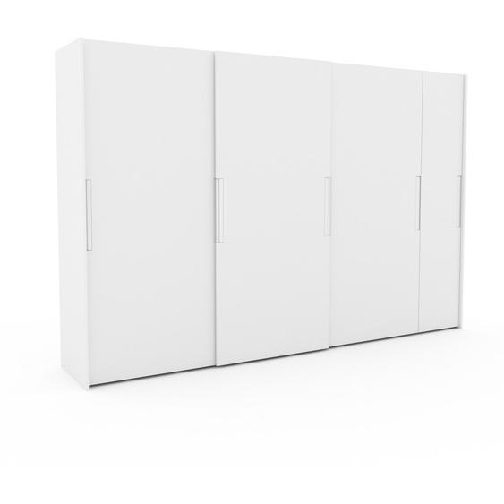 Kleiderschrank Weiß - Individueller Designer-Kleiderschrank - 354 x 233 x 65 cm, Selbst Designen, Schuhauszug/Kleiderstange/hohe Schublade/Schublade Glasfront/Kleiderlift