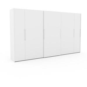 Kleiderschrank Weiß - Individueller Designer-Kleiderschrank - 404 x 233 x 65 cm, Selbst Designen, Kleiderstange/hohe Schublade/Schublade Glasfront/Kleiderlift