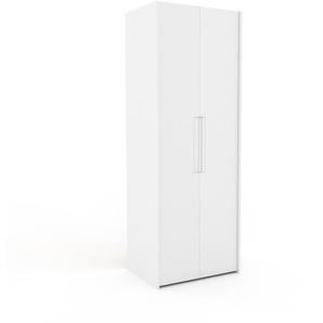 Kleiderschrank Weiß - Individueller Designer-Kleiderschrank - 84 x 233 x 62 cm, Selbst Designen, Kleiderstange