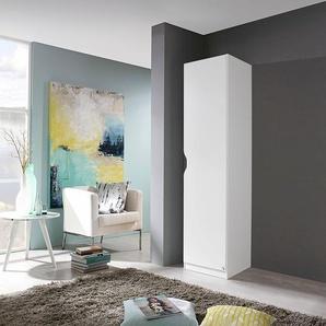 PACK´S Kleiderschrank »Freiham«, weiß, Breite 45 cm, 1-türig, Rauch