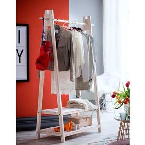 Kleiderständer in Holz White Wash Fichte Massivholz