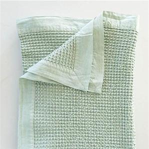 Kleine Tagesdecke stonewashed türkis - bunt - 100 % Baumwolle - Tagesdecken & Quilts - Überwürfe & Sofaüberwürfe