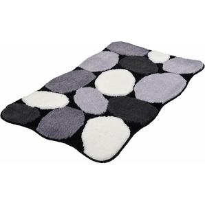 Badematte Stone, Kleine Wolke, Höhe 15 mm, rutschhemmend beschichtet, fußbodenheizungsgeeignet
