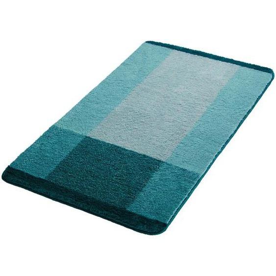 Kleine Wolke Badteppich Blau 70/120 cm , Textil , Wellen , 70x120 cm
