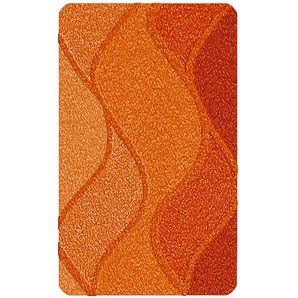 Kleine Wolke Badteppich, Orange, Polyacryl 80 x 140 cm