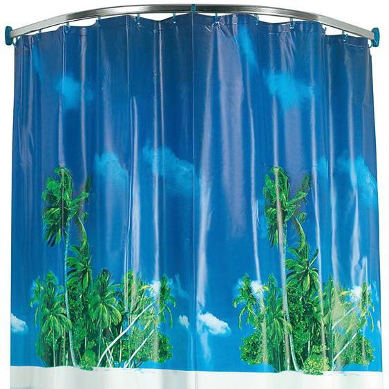 Kleine Wolke Bogenstange, kürzbar, für Duschvorhänge, Rundduschstange - silberfarben Gardinenstangen Wandmontage Gardinen Vorhänge Bogenstange