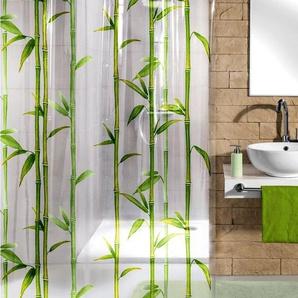 KLEINE WOLKE Duschvorhang »Bamboo«, Breite 180 cm