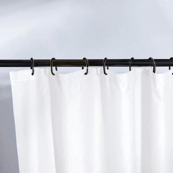 Kleine Wolke Federstange Federstange, ausziehbar-kürzbar, schwarz, für Duschvorhänge, hochwertige Verarbeitung, Länge 125-225 cm L: 125 - 220 Ø 21 mm schwarz Gardinenstangen Wandmontage Gardinen Vorhänge