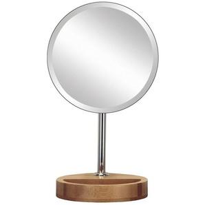KLEINE WOLKE Kosmetikspiegel »Timber Mirror«, mit Bambus-Fuß