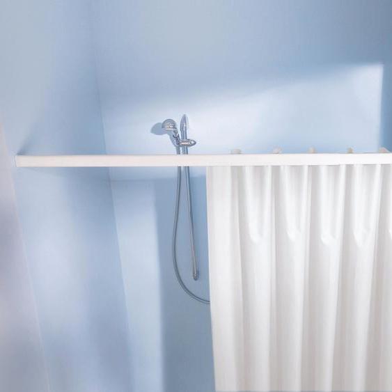 Kleine Wolke Vorhangschiene Federschiene, ausziehbar-kürzbar, für Duschvorhänge, Länge 75-125 cm L: 75 - 125 Ø 24 mm weiß Gardinenschienen Gardinen Vorhänge