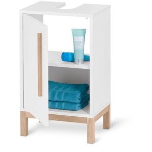 Kleiner Waschbeckenunterschank - braun - Holz -