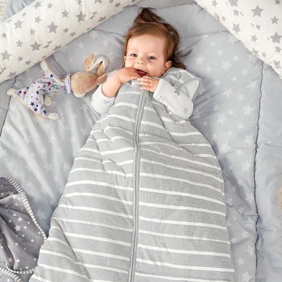 Kleinkind-Schlafsack - weiß - 100% Baumwolle -