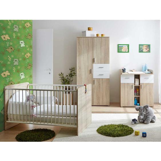 Kleinkinderzimmer in Wei� und Eiche Sonoma Kleiderschrank (3-teilig)