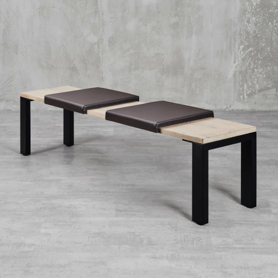 Klemmkissen  Maibe (2er Set) Braun für Sitzbanktiefe 37cm