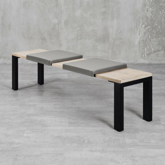 Klemmkissen Maibe (2er Set) Grau für Sitzbanktiefe 37cm