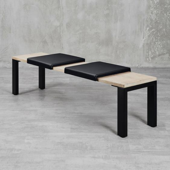 Klemmkissen  Maibe (2er Set) Schwarz für Sitzbanktiefe 37cm