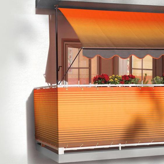 Klemmmarkise orange-braun, Breite 200 cm, Angerer Freizeitmöbel, mehrfarbig, Material Polyacryl, Stahl, gestreift