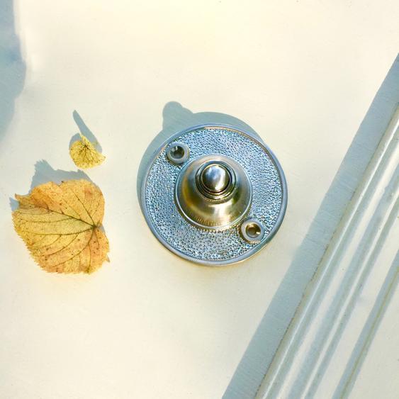 Klingel Haustür Schelle Nickel matt - Türklingel passend zu Edelstahl Beschlägen