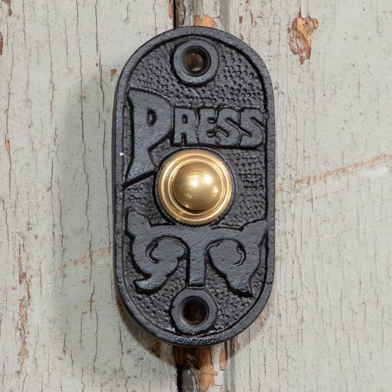 Klingel in schwarz -Press, moderne Türklingel Haustür Schelle Antike Beschläge