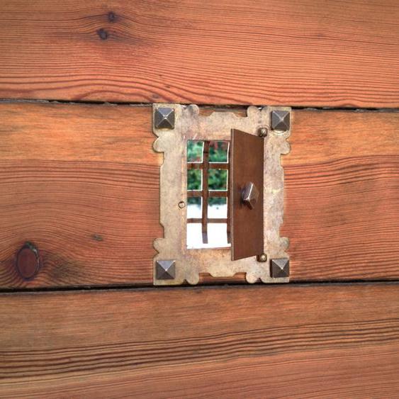 Klosterklappe mittelalterlich Gitter Tür zum Weinkeller, Verließ Türspion