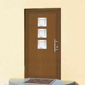 KM MEETH ZAUN GMBH Kunststoff-Haustür »KT34«, BxH: 108x208 cm, braun, in 2 Varianten