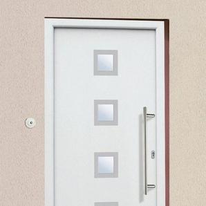 KM MEETH ZAUN GMBH Aluminium-Haustür »A05«, BxH: 98x208 cm, weiß, in 2 Varianten