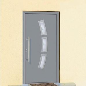 KM MEETH ZAUN GMBH Aluminium-Haustür »A07«, BxH: 108x208 cm, grau, in 2 Varianten