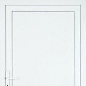 KM MEETH ZAUN GMBH Nebeneingangstür »K704P«, BxH: 98x198 cm, weiß, links