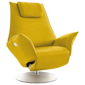 Koinor: Sessel, Gelb, B/H/T 92 79-113 90-165