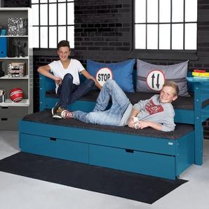 Modernes Kojenbett 90x200 cm in grau - Kids Town Color