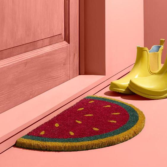 Kokos-Fußmatte - grün -