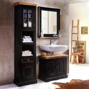 Kolonialstil Badezimmer Set in Schwarz Honigfarben (3-teilig)