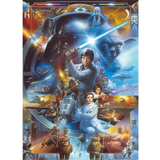 Komar Fototapete Disney Star Wars Luke Skywalker Collage 184 cm x 254 cm