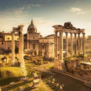 Komar Fototapete Forum Romanum, mehrfarbig-natürlich-bedruckt B/L: 5 m x 2,8 m, 10 St. braun Fototapeten Tapeten Bauen Renovieren