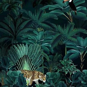 Komar Fototapete »Jungle Night«, glatt, bedruckt, floral, natürlich