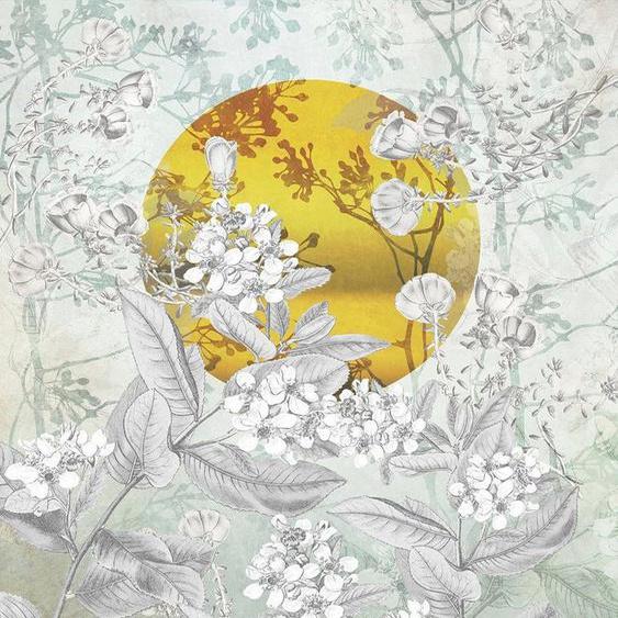 Komar Fototapete »Karma«, glatt, floral, bedruckt, Gold-Optik