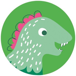 Komar Fototapete »Little Dino Tyranno«, glatt, bedruckt, Comic, Retro, mehrfarbig, BxH: 128x128 cm, selbstklebend
