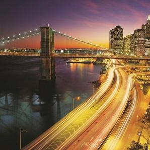 KOMAR Fototapete »NYC Lights«, 8-teilig