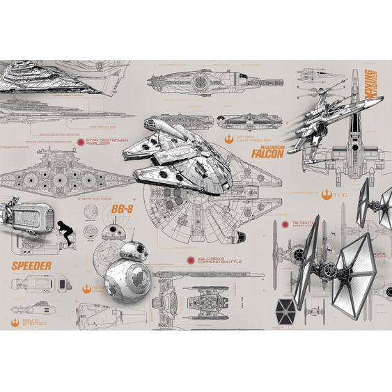 Komar Fototapete Star Wars Blueprints 368 cm x 254 cm