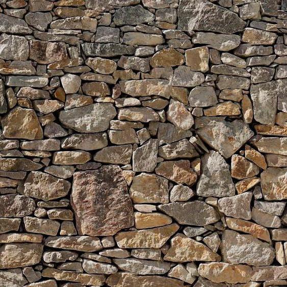 Komar Fototapete »Stone Wal«, glatt, bedruckt, Steinoptik, (Set), ausgezeichnet lichtbeständig