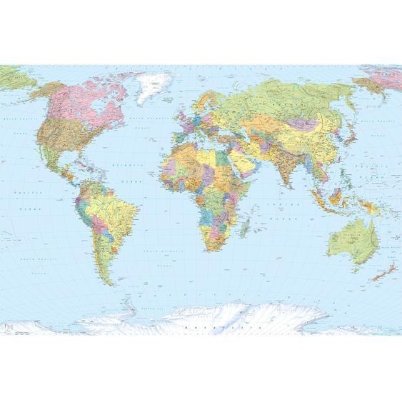 Komar Fototapete Vlies World Map 368 cm x 248 cm