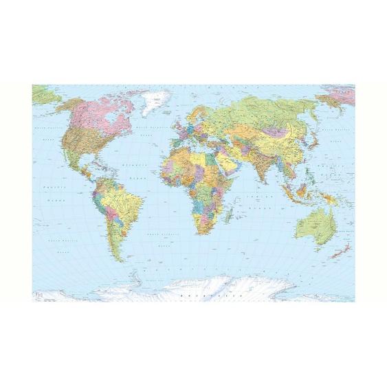 Komar Fototapete »World Map«, (4 St)