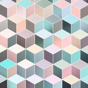 Komar Vliestapete »Pure Cubes Pastel«, glatt