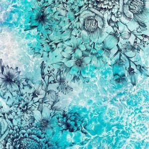 Komar Vliestapete »Windflowers 4er«, glatt, naturalistisch