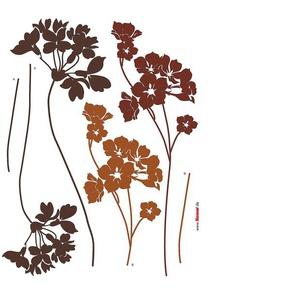 Komar Wandtattoo Blumen, selbstklebend B/H: 70 cm x 50 cm, Blumen braun Wandtattoos, Wandsticker Fototapeten