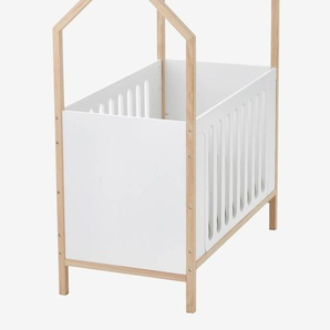 Kombi-Babybett Kokosnuss, Hausbett weiß