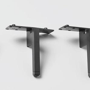 Kombifüße Nex Pur Piure grau, Designer Studio Piure, 13x1.5x1.5 cm