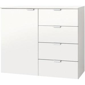 Kombikommode, weiß, 100x42x80 cm, mit Schubkästen, Express Solutions